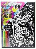 Kreative Kids Colourful Velvet Felt Art Picture Colouring Set For Children ~ Mermaid
