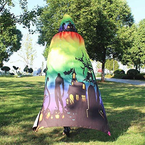 MOKO-PP Women Novelty Pumpkin Print Cape Scarf Lady Halloween Poncho Shawl Wrap Costume(Multicolor) for $<!--$8.49-->