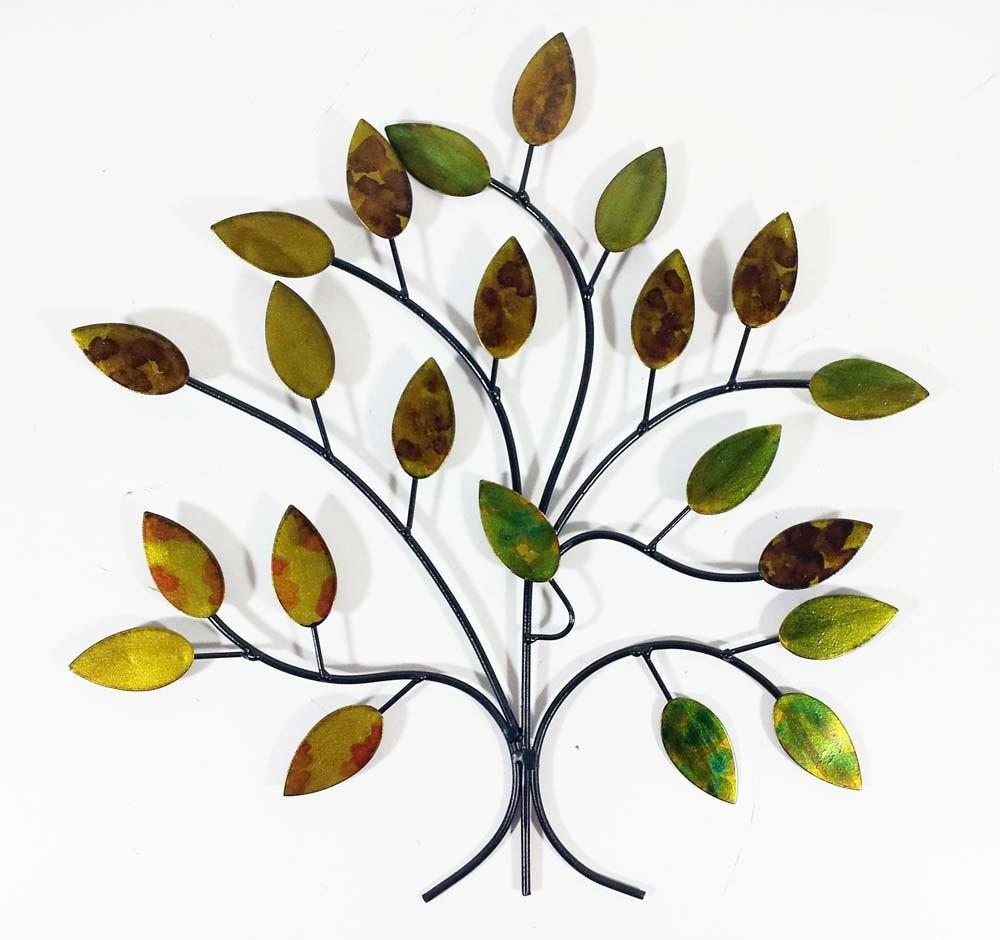 Contemporary Metal Wall Art Decor Sculpture - Calm Spring Tree Branch SK Style