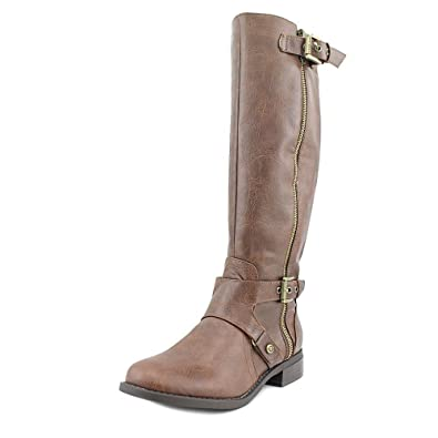 G by Guess Womens Hertle 2 Almond Toe MidCalf Fashion Dark Brown Size 5.0 SDO