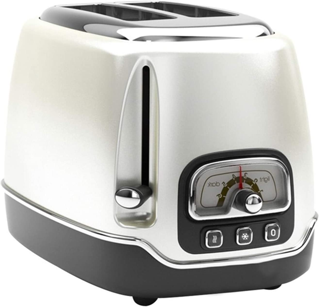 Toasters-Metal body, 6-speed temperature adjustment,Cancel, Defrost & Reheat Functions,Easy Clean Slide Out Crumb Tray