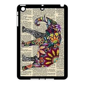 iPad Mini (iPad mini 2) Case,Aztec Tribal Indians Elephant Vintage Page Hign Definition Unique Design Cover With Hign Quality Hard Plastic Protection Case