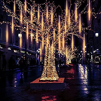 meteor lights pomelotree 50cm 10 tubes 540 led meteor shower raindrop snow falling lights upgraded - Meteor Christmas Lights