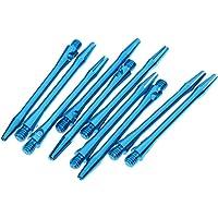 Homyl 10-pieces 53mm Aluminio Dardos Medianos Ejes Dart Tallos Throwing Fitting Con 4 Colores