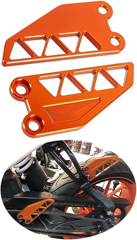 Dekorative Motorrad Fußrastenplatte Für Duke 250 390 2017 2019 Cnc Aluminium Zubehör Orange Auto