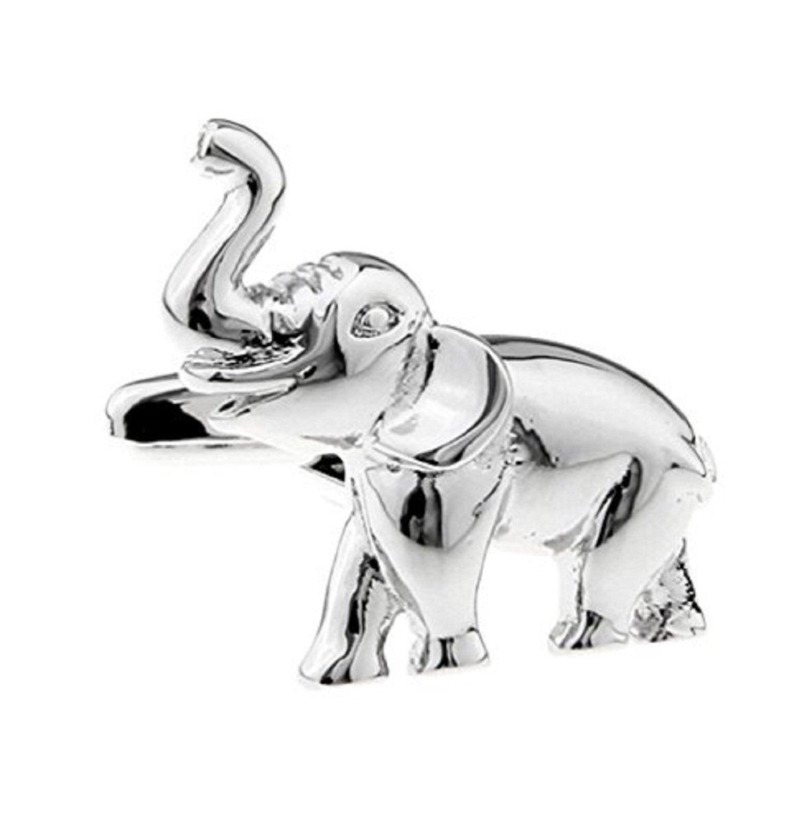 Hosaire Cufflinks Men's Fashion Silver Elephant Cuff Link Novelity Cuff-link