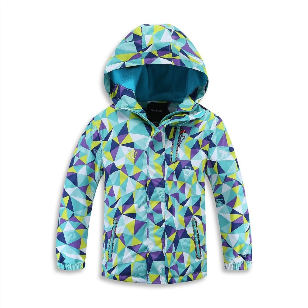 Bakerdani Kids Outdoor Waterproof Warm Jacket Camouflage Hooded Coat