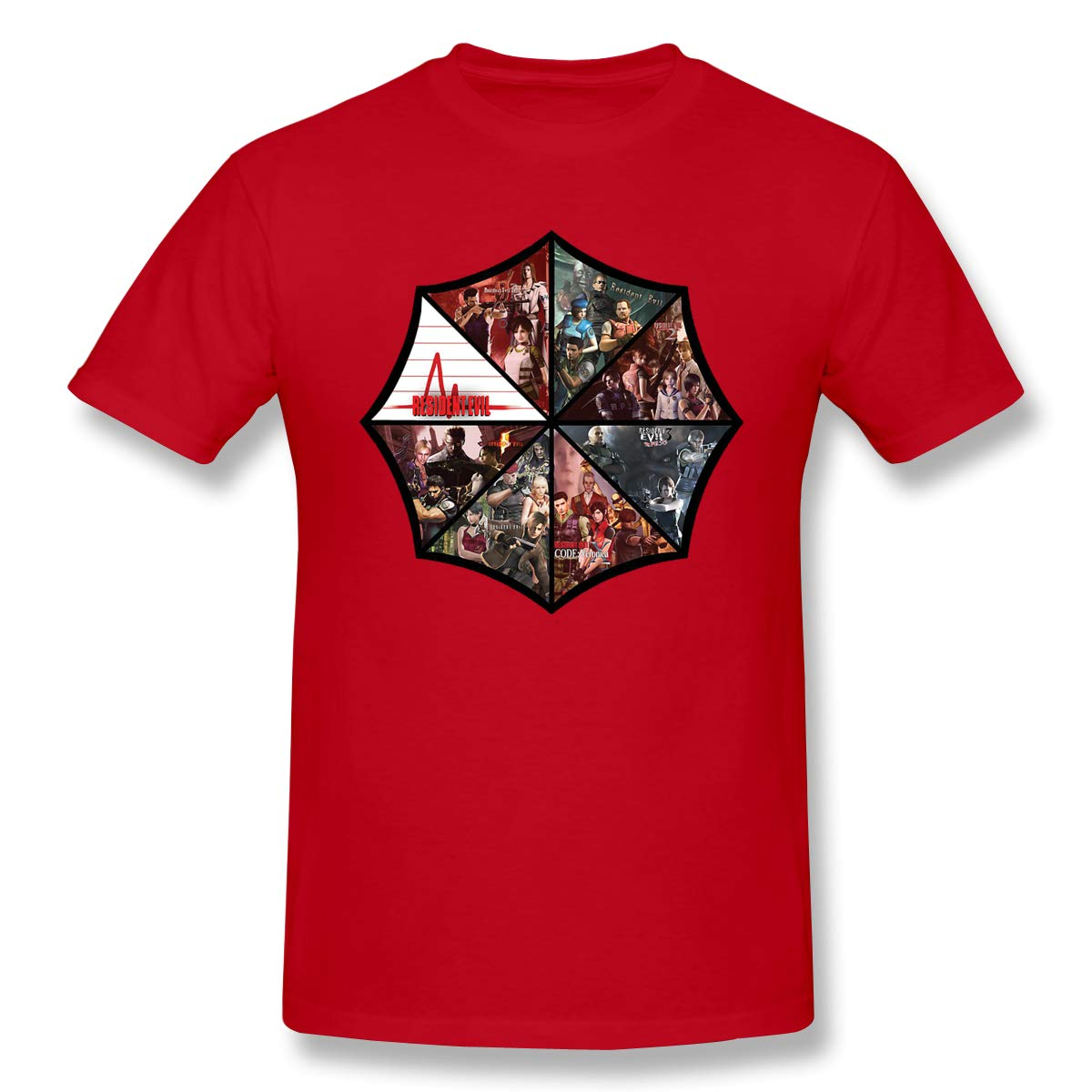 Finehorse Funny Cool Red T Shirt Short Sleeve Resident Evil Graphic Tees Tops