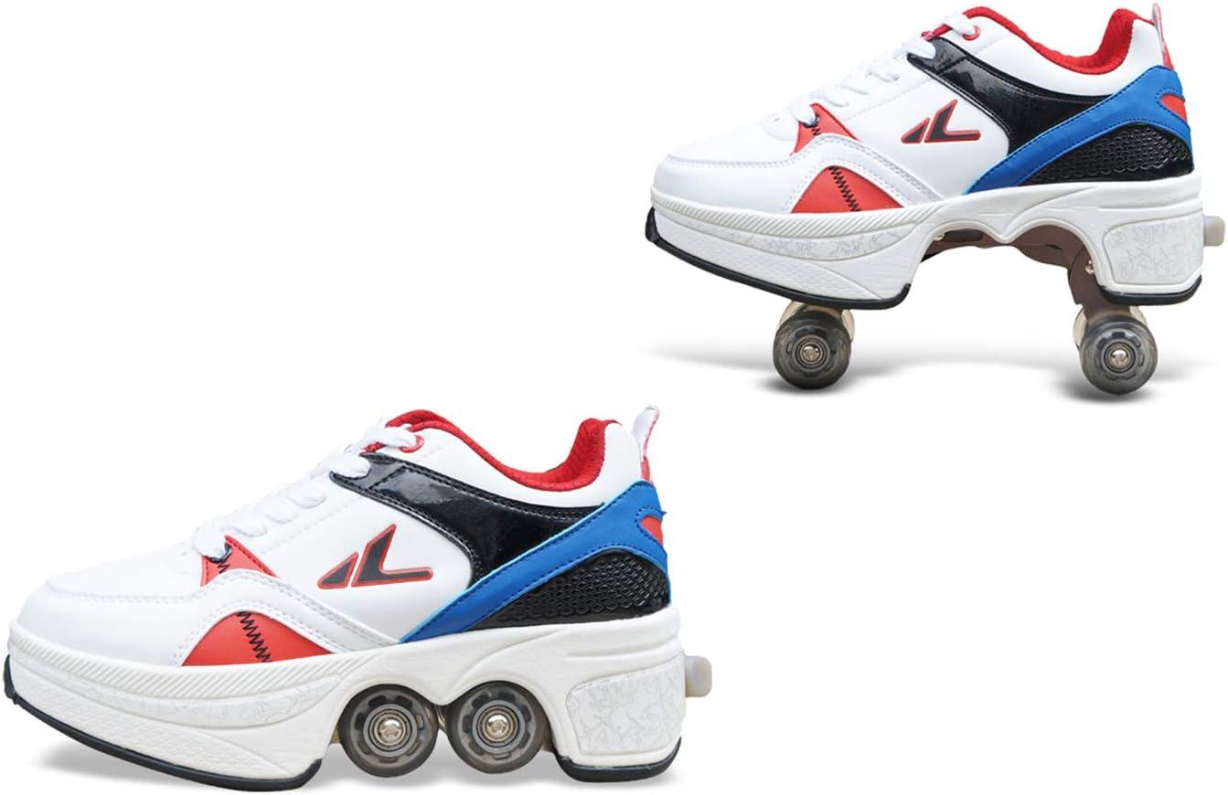 sanheng fire Deformation Parkour Shoes Cuatro Redondos de Zapatillas de Running Patines, 40, Fashion Icon: Amazon.es: Deportes y aire libre