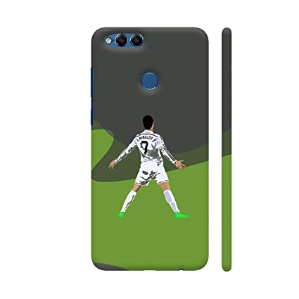 timeless design 74e67 ec815 Colorpur Huawei Honor 7X Cover - Ronaldo 7 Printed Back: Amazon.in ...