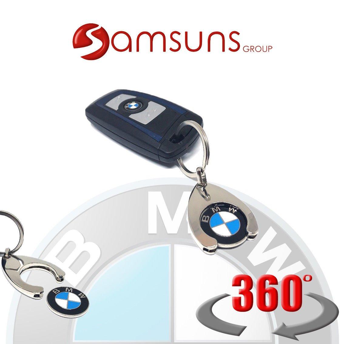 2 x Key Fob with Shopping Trolley Chip Original Mercedes-Benz