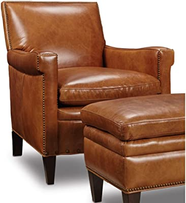 Hooker Furniture Jilian Leather Club Chair In Brown Natchez Brown