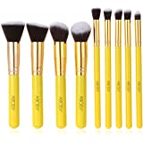 Abody 12pcs Professional Makeup Brush Set Cosmetic Brush Kit Makeup Tool with Cup Leather Holder Case