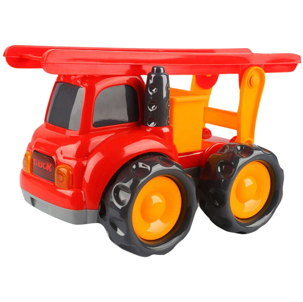 Mini Sliding Toy Cars Friction Powered Cars Push and Go Car Construction Vehicles Toys Early Educational Toys Pocket Construction Vehicles Trucks Toy for Kids