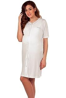 02049baf93 Premamy - Camicia Clinica per Premaman, Modello Aperto Davanti, Cotone  Jersey, Pre-