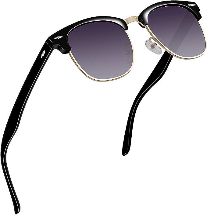 Femme lunettes de soleil rétro polarisée, avec monture