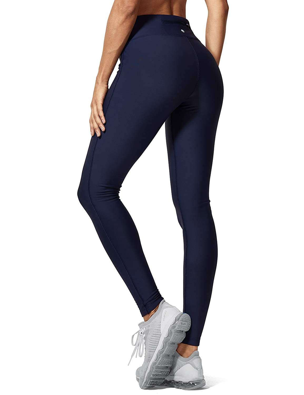 18d666e9d3b644 Amazon.com: CRZ YOGA Women's Winter Thick Fleece Lined Legging Mid-Rise  Sports Warm Pants with Zip Pocket 28'' Navy XS(0/2): Clothing