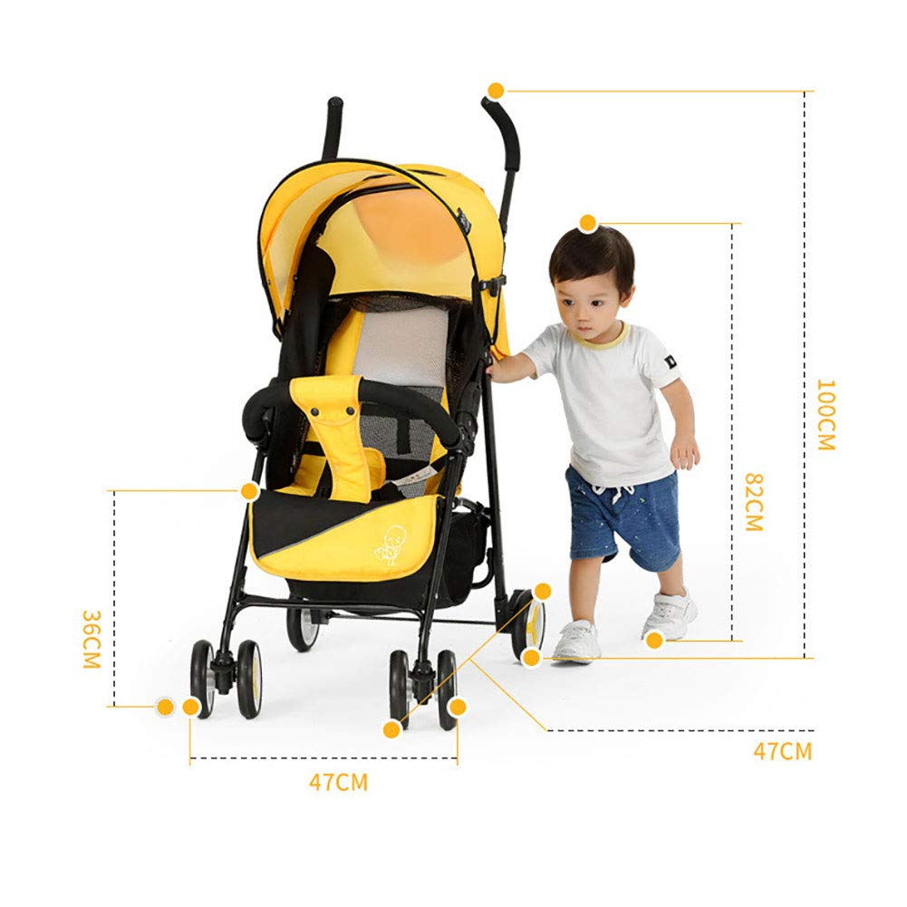 WDXIN Kid's Stroller Pushchair EVA Foam Shock Absorber Wheel Side Double Layer Design Applicable Age: 0-6 Months, 6-12 Months, 1-3 Years Old,C by WDXIN (Image #6)