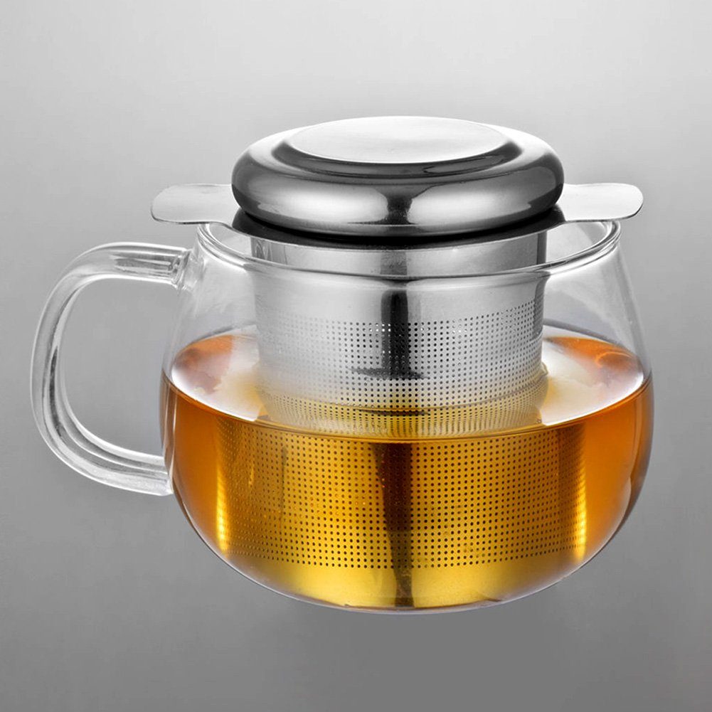 Tea Infuser, Stainless Steel Tea Strainer with Lid, Handles, Tea Filter, Cups, 2pcs by Ragdoll50 (Image #7)