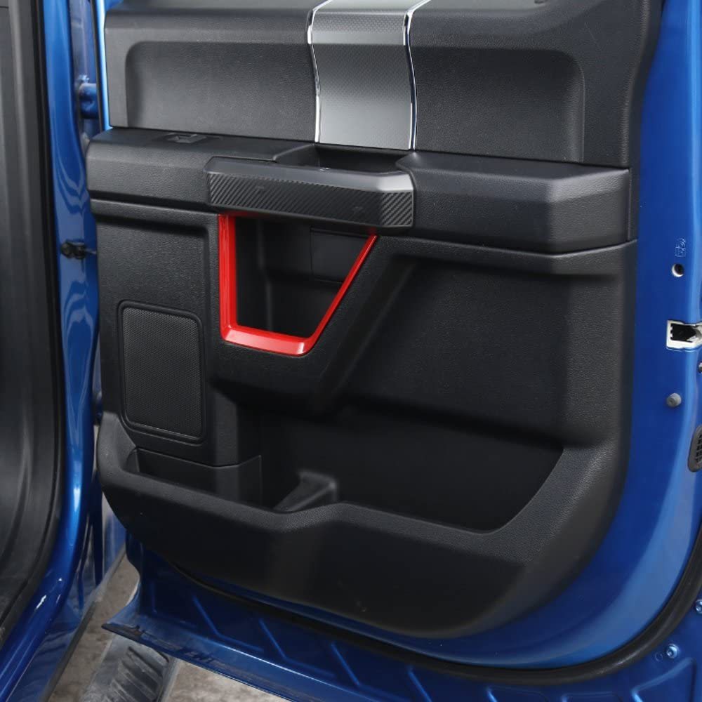 For Ford F150 2015 Up ABS Matt Car Central Console Panel Cover Frame Decor Sticker Trim