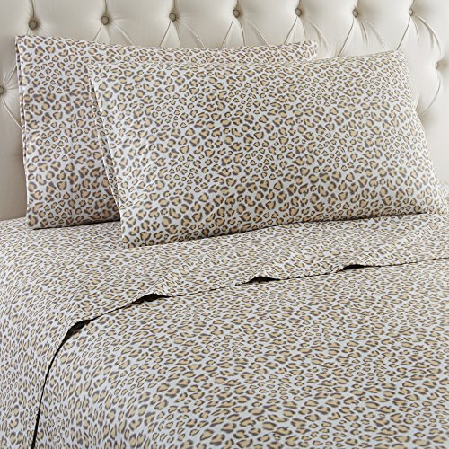 Safari Flannel - Thermee Micro Flannel Shavel Home Products Sheet Set, Safari, Queen