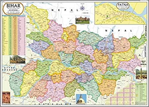Patna In India Map.Buy Bihar Map Book Online At Low Prices In India Bihar Map Reviews
