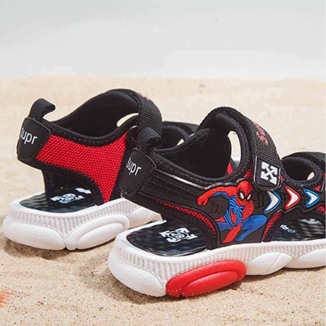 Sandalias para ni/ños Sandalias para ni/ños Spider-Man Estudiante 2020 Verano Ocio para ni/ños Playa Fondo Suave Zapatos Grandes para ni/ños