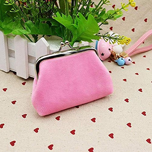 Bag cute Mini small Lady Coin Wallet Purse wallets Noopvan Clutch Hasp Clearance 2018 Corduroy Pink Wallet xPq1RSSU7O