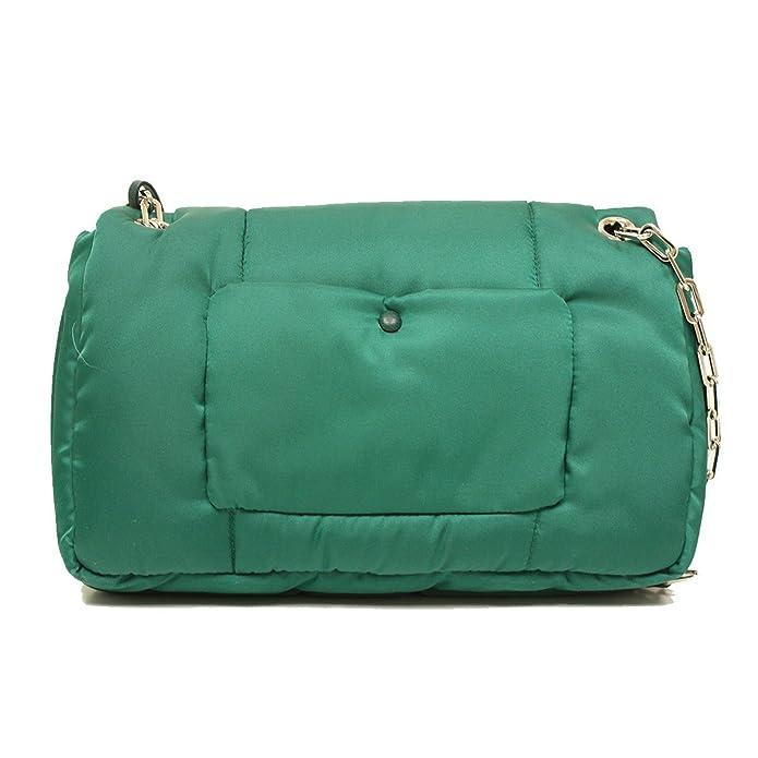 5b359a5f4e6ff8 Prada BR5024 Green Tessuto Bomber Pattina Shoulder Bag: Handbags: Amazon.com