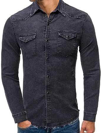Fensajomon Mens Slim Fit Business Long Sleeve Casual Stripe Button Down Dress Shirt