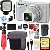 Canon PowerShot SX730 HS 20.3MP 40x Optical Zoom Digital Camera (Silver) + 64GB Deluxe Accessory Bundle