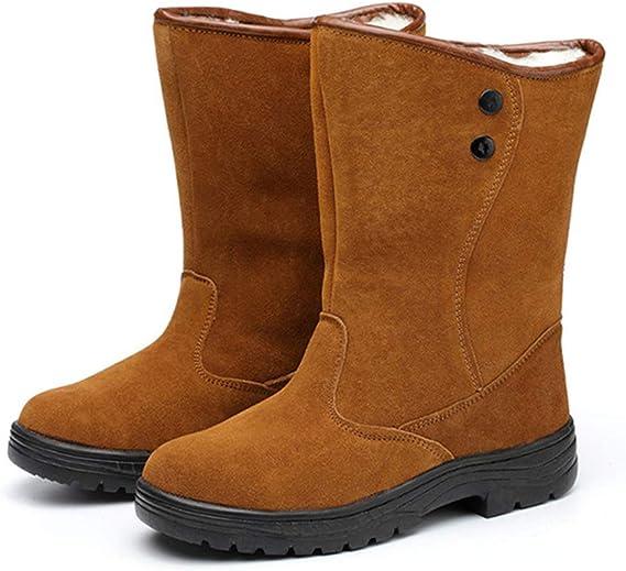Adong Zapatos de Seguridad para Hombre Alta Ayuda Impermeable Wear Resistente al Tobillo Botas de Trabajo Seguro Laboral Botas para Trabajadores de Carretera Soldador,A,43EU: Amazon.es: Hogar
