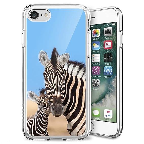 Amazon com: Badalink Case for iPhone 7/8, Zebra Mom and Kid