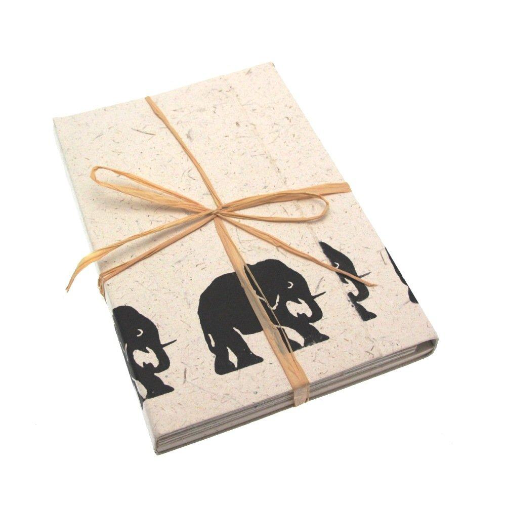 Fair Trade Set di carta da lettere di sterco di elefante 125 x 180 mm Paper High