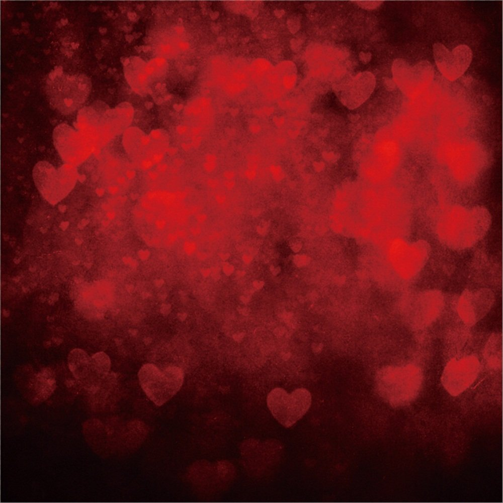LFEEY 8 x 8フィート ロマンチック ボヘミアン ハート ウェディング 写真 背景 バレンタインデー 記念日 写真撮影 写真撮影 背景 写真ブース ビデオ 小道具   B07D7NYT6X