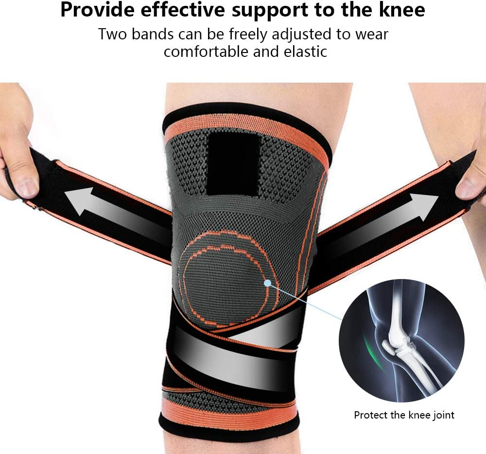 Weightlifting Chart Jogging and Post Surgery Recovery Please Check Sizing Basketball Flysea Store Knee Brace for Men or Women Sleeve Knee Compression with Side Stabilizers Knee Support for Running