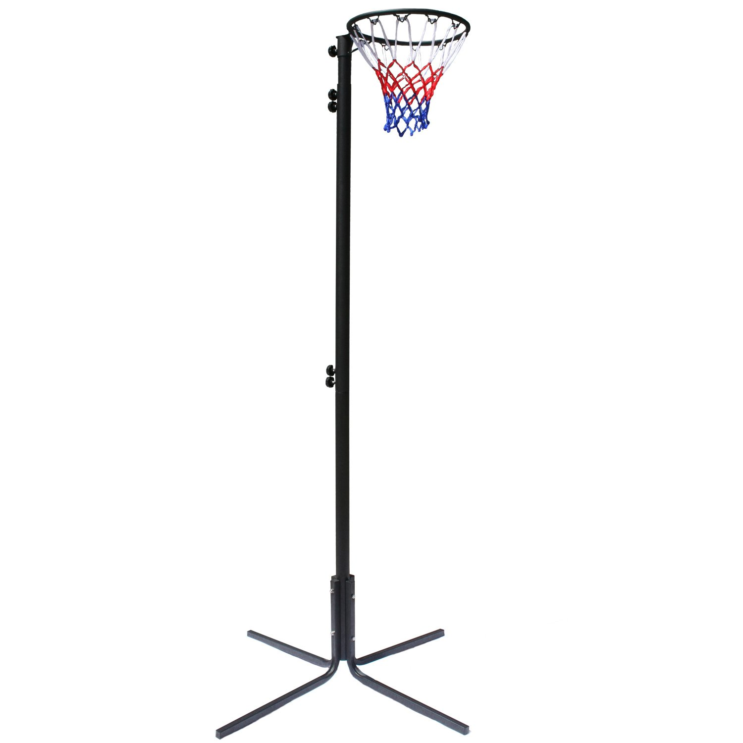 Bee-Ball Freestanding Netball Post, Height Adjustable from 2.25 Meters To 3.05 Meters (7' To 10') Big Game Hunters