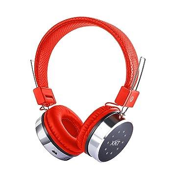Delicacydex XK-B06 Auriculares inalámbricos Bluetooth con luz Deslumbrante Soporte para Tarjeta SD Radio FM Micrófono estéreo Auricular Bluetooth: ...