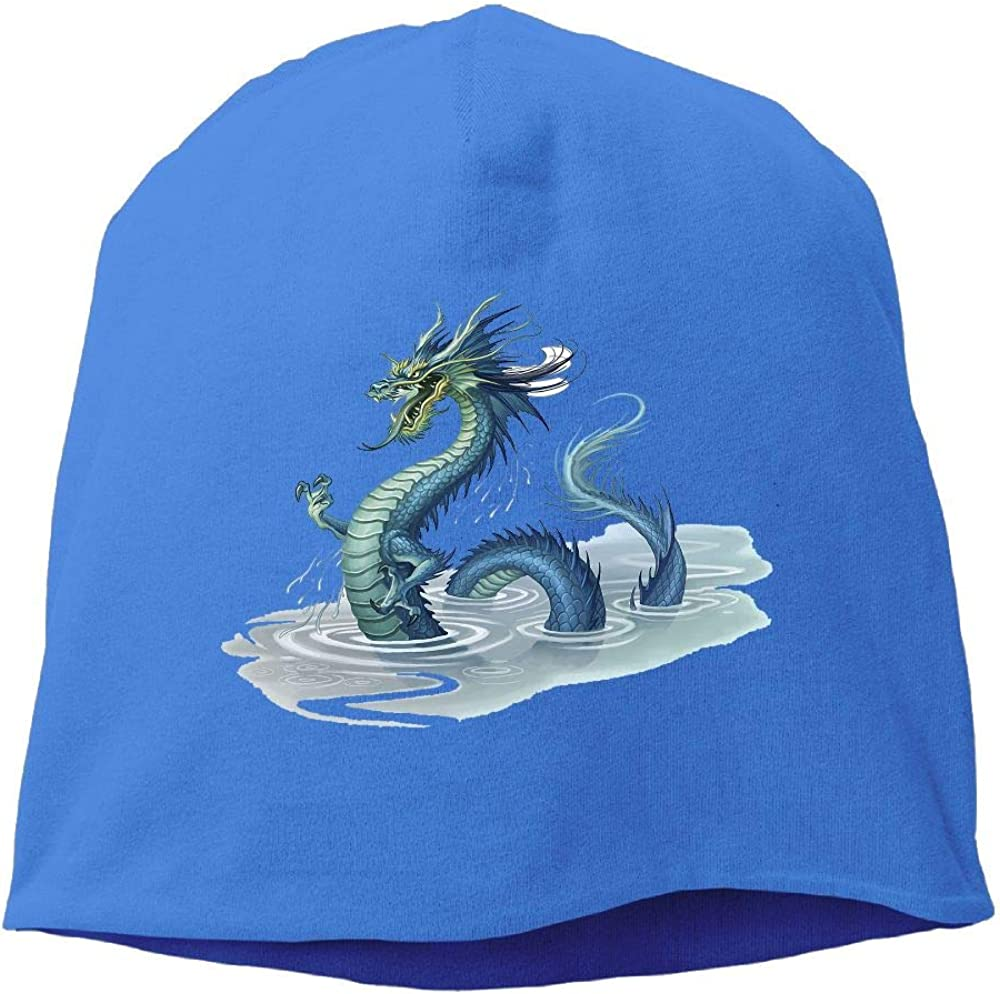 Headscarf Chinese Dragon in The Water Hip-Hop Knitted Hat for Mens Womens Fashion Beanie Cap