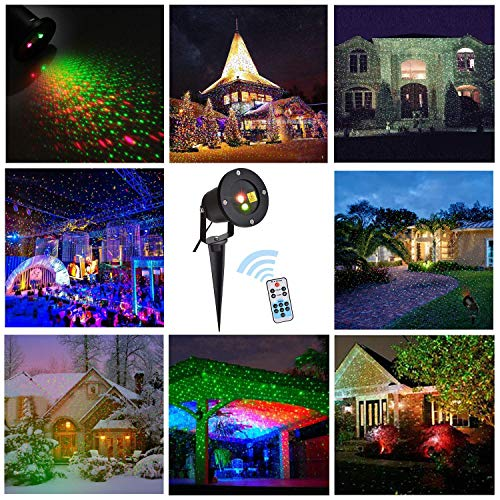 B bangcool Laser Light Outdoor Projector - Wedding/Birthday Party Club Bar Stage Laser Lights, Wireless Remote Control Waterproof Ajustable Landscape LED Laser Lamp Garden Decoration