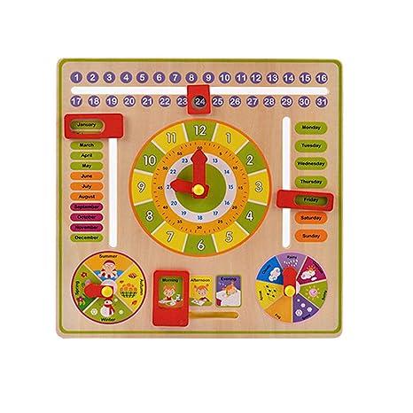 YIY Reloj Digital multifunción, un Juguete de educación temprana para niños y Rejillas de 3