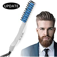 Quick Beard Straightener, Beard Straightening Comb Curly Hair Straightening Curler Comb GREATSSLY Men's Professional Quick Hair Styler Multifunctional Hair Comb Curling Iron