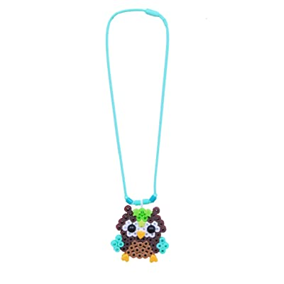 Perler Beads Owl Necklace Snap-In Craft Activity for Kids, 115pcs: Arts, Crafts & Sewing