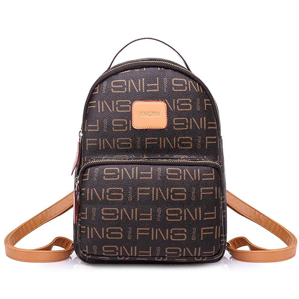 SAMSHOWME Leather Backpack Mini Casual Backpack Purse for Women