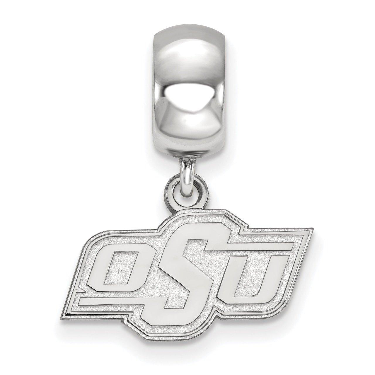 Lex /& Lu LogoArt Gold Plated Sterling Silver The University of Oklahoma Bead Charm XS Dangle