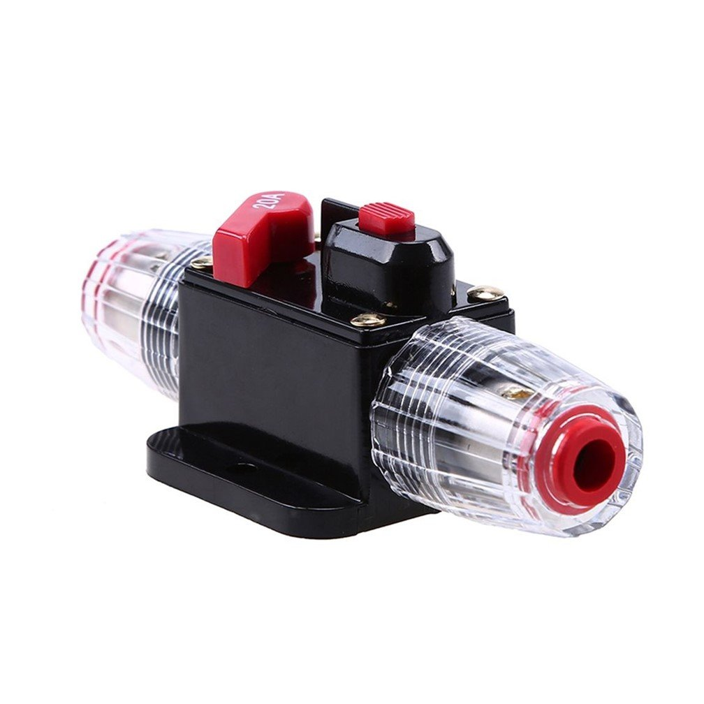 Stetion Car Audio 60 Amp Resettable Fuse Circuit Breaker Replace Switch Button 60a 12v Voltagein Protect For System 12 24v Dc Amps Overload Protection