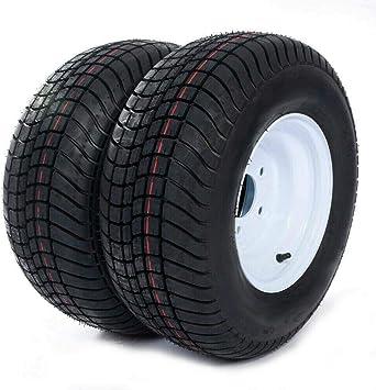 PARTS-DIYER 1 PC 10 20.5x8.0-10 Tubeless Trailer Tires 5 Lug Wheel Galvanized Spoke w//Rims 10PR P825