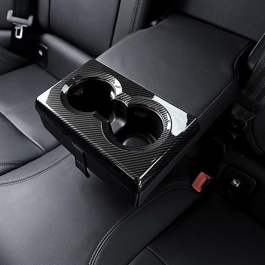 Karbonfaser Stil Für Giulia 2016 2017 2018 Auto Abs Chrom Hintere Reihe Becherhalter Rahmen Abdeckung Verkleidung Auto