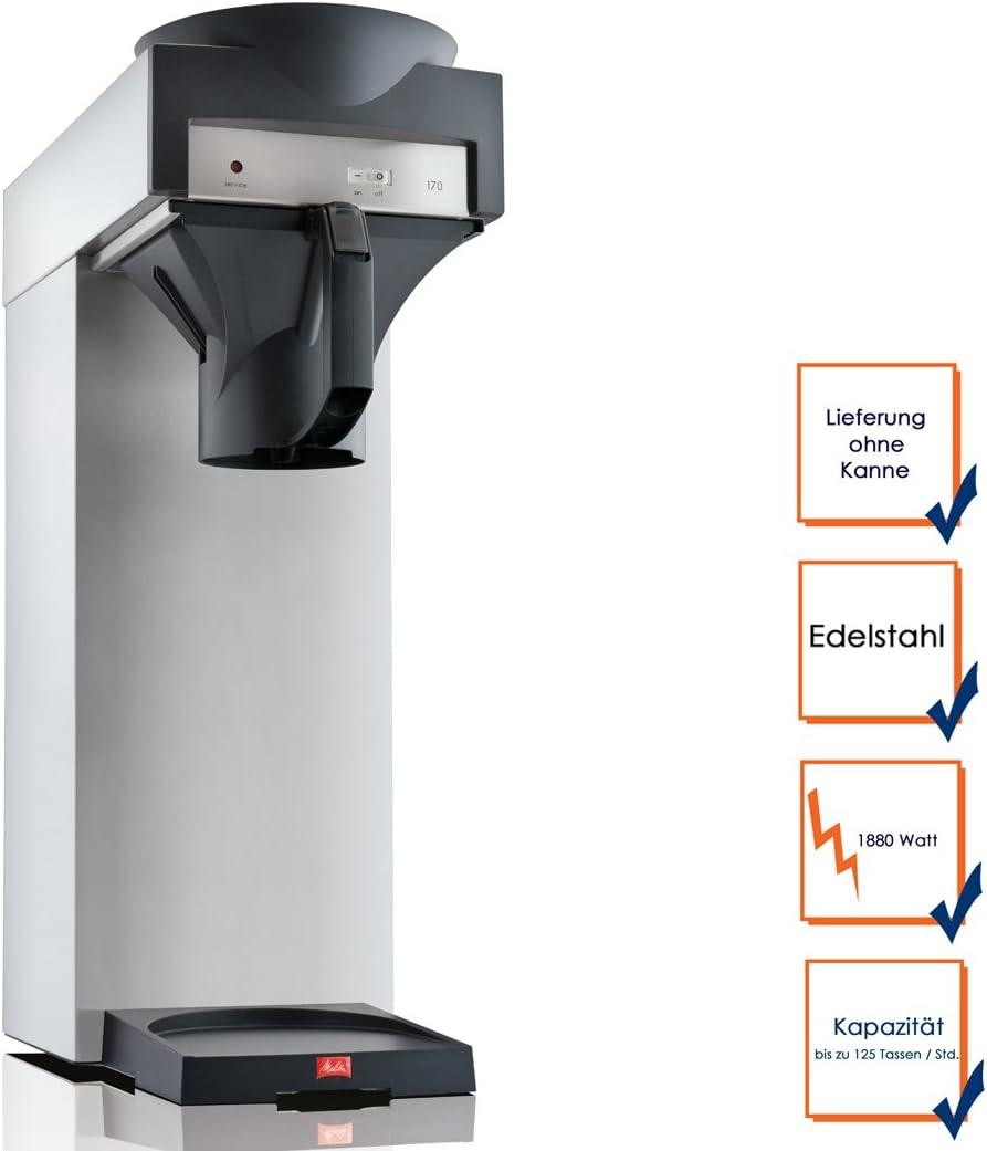 Profesional Filtro de café eléctrica sin Jarra, hasta 125 Tazas/hora; m170mt ggg: Amazon.es: Hogar