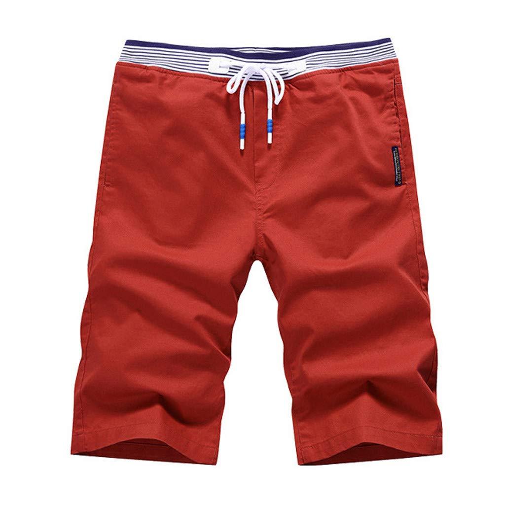 Pantalon Casual Hombre Ajustados Casual Short Pantalon Trabajo Hombre de Verano Pantalones Cortos de Deportes de Playa,Tallas M~7XL Subfamily Pantalon Corto Cargo Hombre